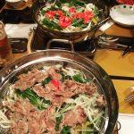 ラム肉蒸ししゃぶ(野菜付) 1,300円